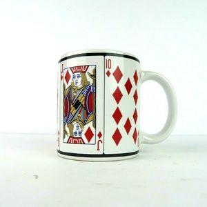 Royal Flush Diamonds Poker Night Coffee Mug